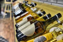 Calvados In Bottles In Wine Shop