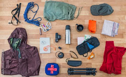 In de dag Kamperen travel equipment