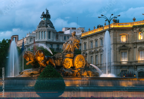Garden Poster Madrid Cibeles Fountain, Madrid