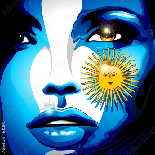 Argentina Flag Girl Portrait