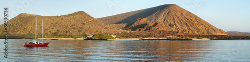 Volcanic landscape of Santiago island