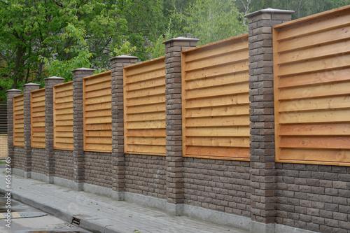 Fotografie, Tablou Wooden decorative fence