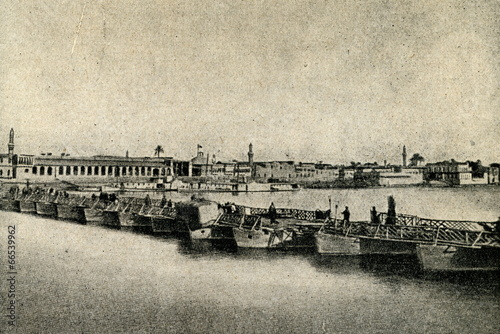 Baghdad and Tigris River ca. 1920 Fototapet