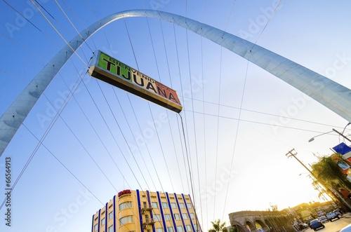 Staande foto Mexico Monumental arch, Tijuana, Mexico