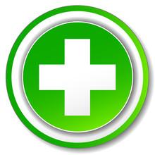 Vector Green Cross Icon