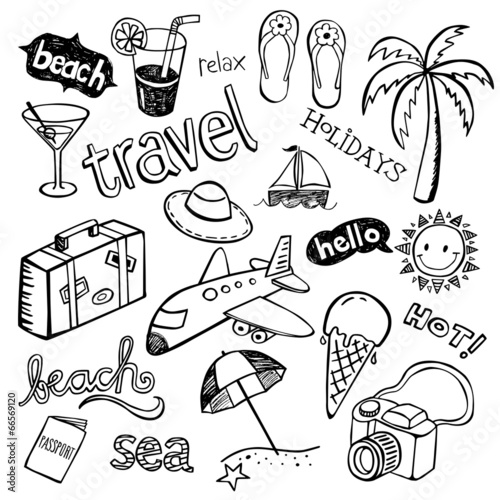 Beach Doodles #66569120
