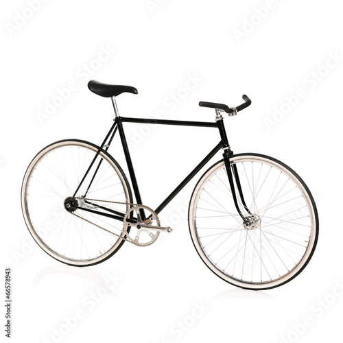 Deurstickers Fiets Stylish bicycle isolated on white