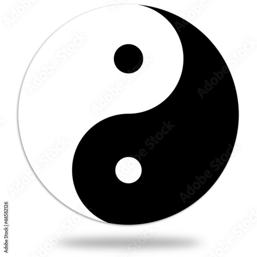 Fotografering  Yin and Yang symbol