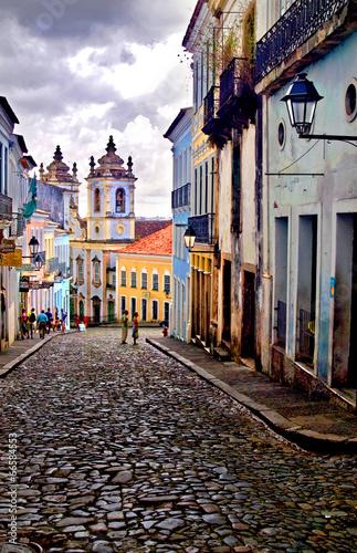 Fotografía  Pelourinho in Salvador de Bahia, Brazil
