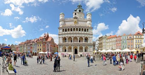 Market square, Poznan, Poland -Stitched Panorama