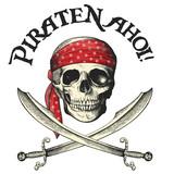 Piraten-Symbol mit Totenkopf und Säbeln