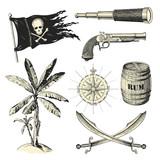 Piraten-Design-Elemente