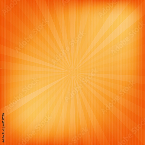 Fotobehang - Orange rays texture background