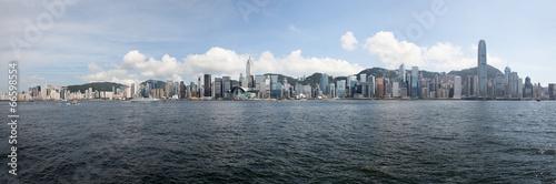 Hong Kong Island Central City Skyline