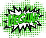 Vegan, Comic Book Style, Sprechblase