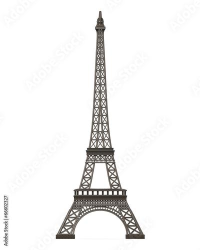 Foto op Aluminium Eiffeltoren Eiffel Tower Isolated