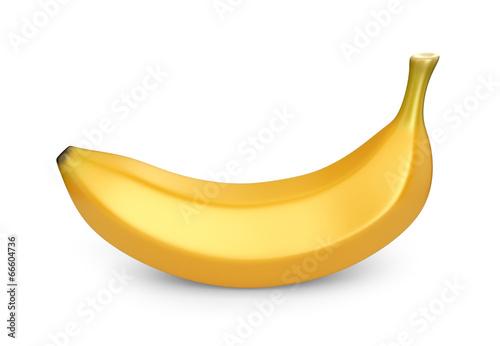 Fotografie, Tablou  Banana fruit, 3D icon. Illustration isolated on white background