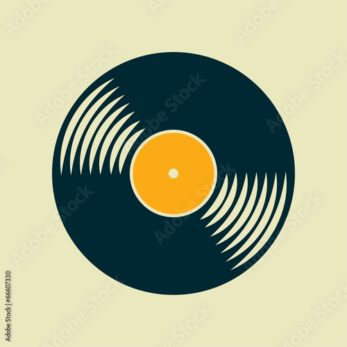 Fotomural  Vector vinyl record icon