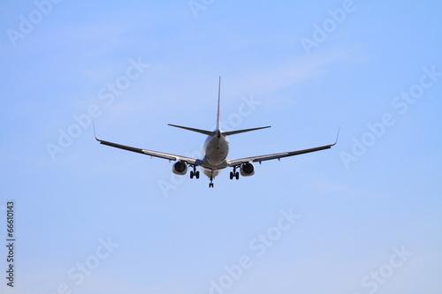 Fotografia  着陸する飛行機(B737)