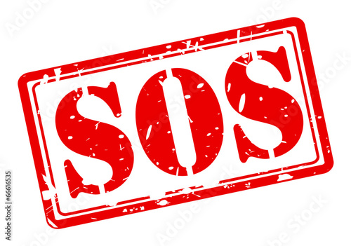 SOS red stamp text Tapéta, Fotótapéta