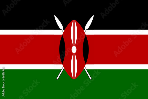 High detailed flag of Kenya Tableau sur Toile