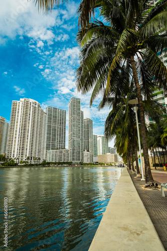 In de dag Downtown Miami