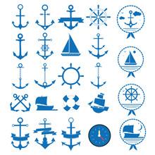 Marine Icons Vector Set
