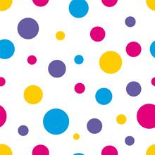 Polka Dot Seamless Colorful Ba...