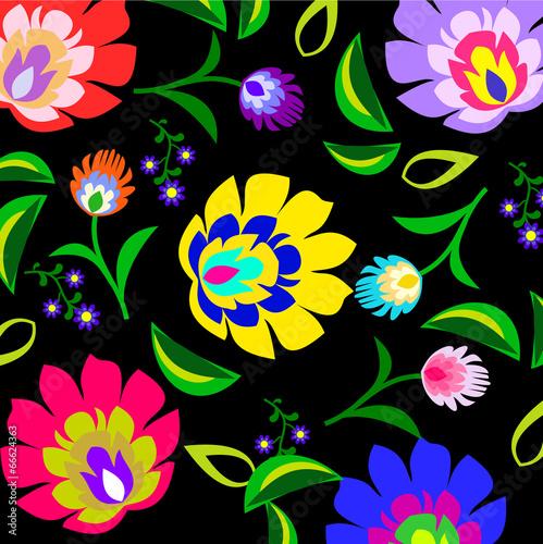 tradycyjny-polski-ludowy-wzor-kwiatowy