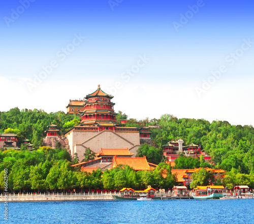 Foto op Canvas Beijing Summer Palace in Beijing, China