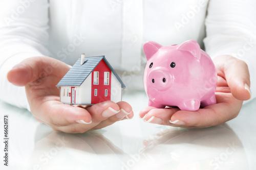 Fototapeta concept of mortgage and savings obraz