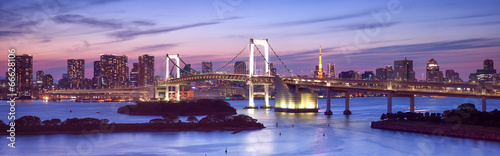 Foto op Canvas Tokyo Rainbow Bridge in Odaiba Tokyo