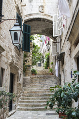 Plakat Stairs in Old City of Dubrovnik