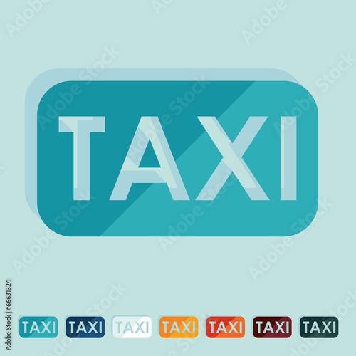 Flat design: taxi Fototapet