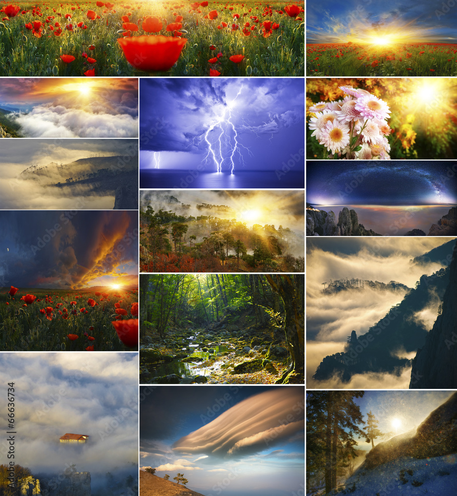 Fairy tale landscapes collection