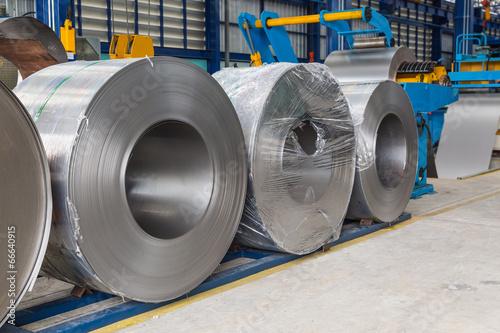 Fotografie, Obraz  Steel coils