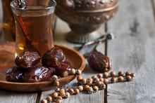 Arabic Tea, Rosary And Dates