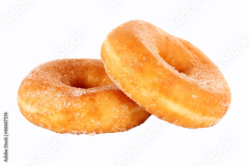 Donut coated with sugar