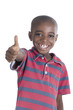 canvas print picture Happy african boy thumb up