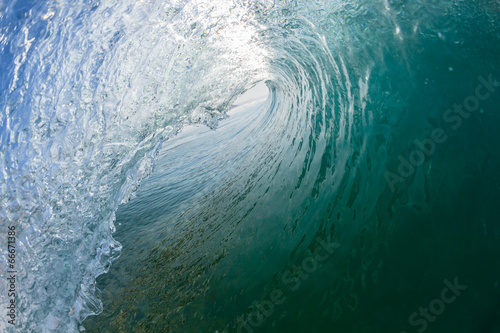 Inside Hollow Wave Crashing Tube Surfing Tablou Canvas