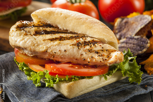 Fotomural Healthy Grilled Chicken Sandwich