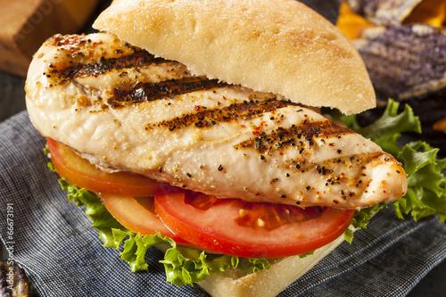Fotomural  Healthy Grilled Chicken Sandwich