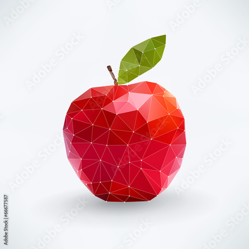 Abstract isolated apple fruit - 66677587