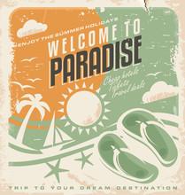 Summer Holiday Retro Poster Design