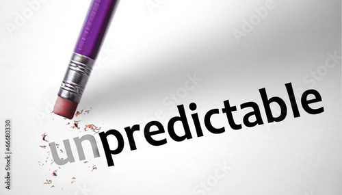 Photo Eraser changing the word Unpredictable for Predictable