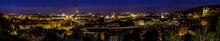Prague Panorama At Night, Czech Republic.