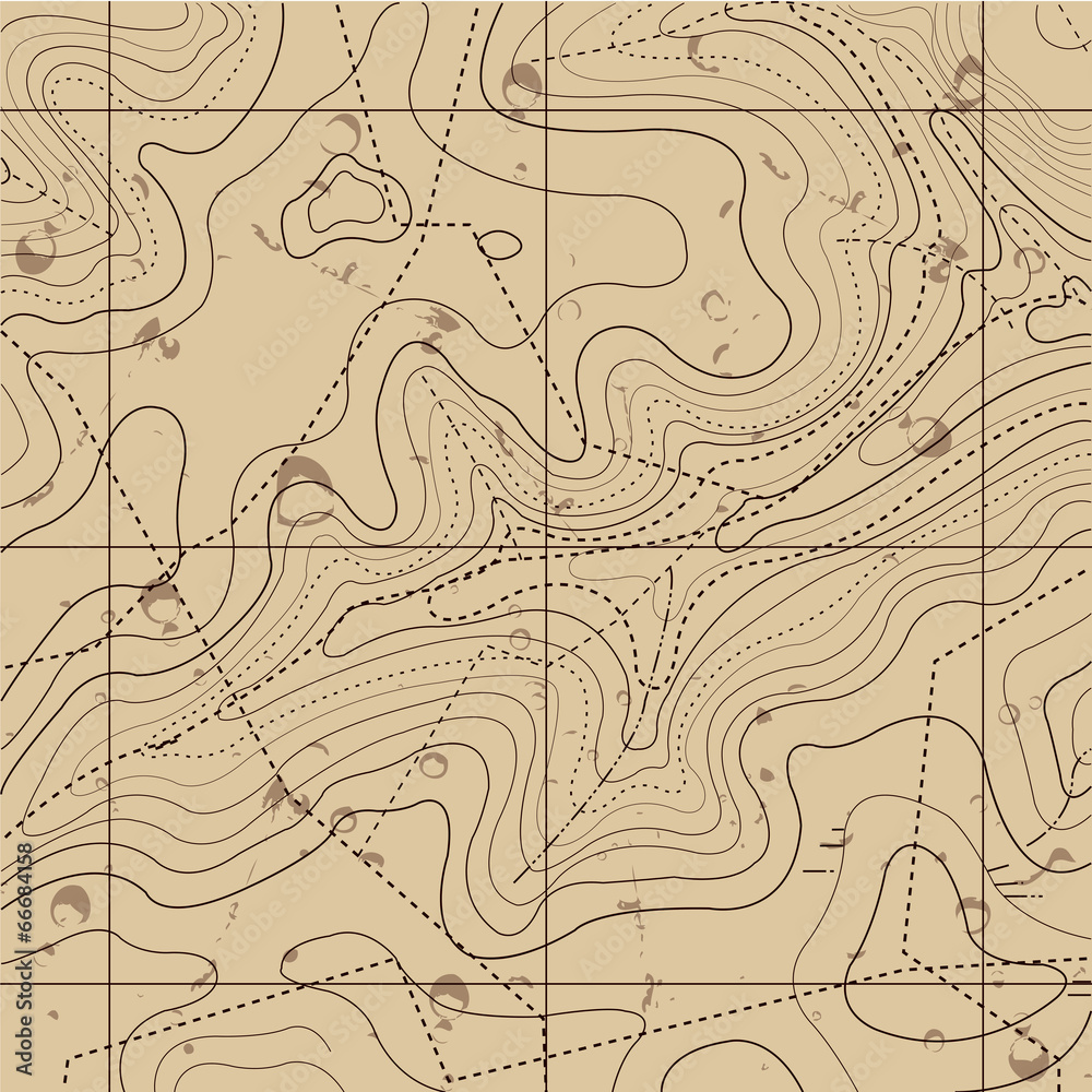 Fototapety, obrazy: Abstract Retro Topography map Background