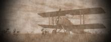 Biplane On The Grass - 3D Render