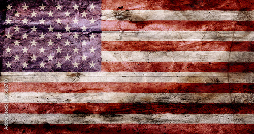 Fototapeta USA flag textured United Stats of America