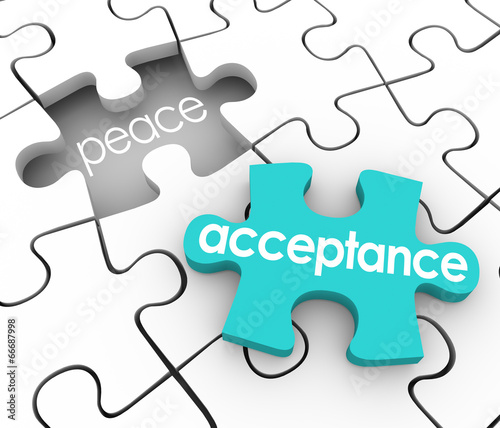 Acceptance Puzzle Piece Complete Inner Peace Admit Fault Shortco Wallpaper Mural